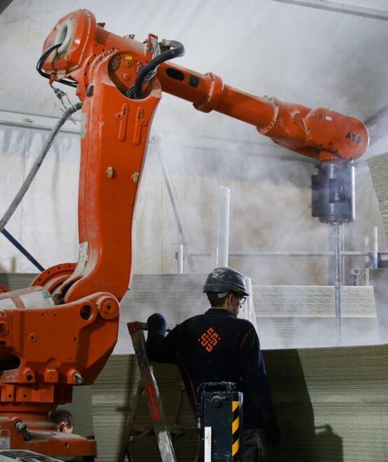Wall and Robot - de Vergaderfabriek - CyBe Construction